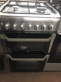 50CM STAINLESS STEEL INDESIT DUEL FUEL GAS COOKER