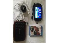 PS Vita Slim with charger, case, silicone skin, 8gb memory card and game
