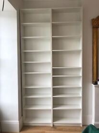 Ikea Billy Bookcases x 2, plus 6 x height extension shelves