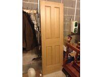 Internal Light Oak Panel Door