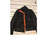 Superdry Black Leather Jacket Size M - never worn