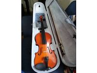 Violin between 1/2 and 3/4