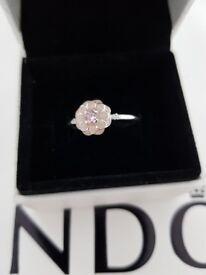 REDUCED! Pandora Magnolia Bloom Ring size 54 never worn still in box