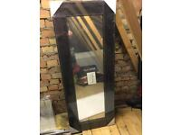 1 faux leather surround mirror
