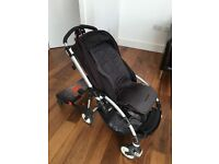Bugaboo Bee Puschair, hooks, rain cover and buggy board