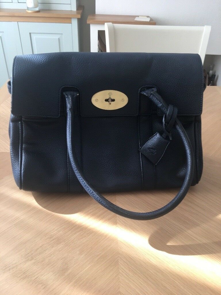 65c4a4529bc Brand new Mulberry style navy blue leather bag and dustbag   in ...