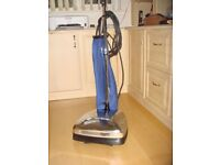 Floor polisher for wood and tile. Heavy duty 230V with dust bag attachment and 6 spare brushes.