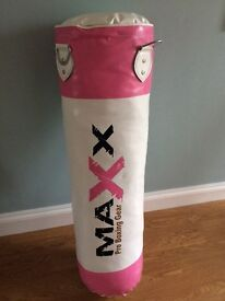 Women's new boxing bag and accessories including boxing gloves