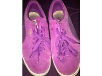 Size 7 purple puma suades