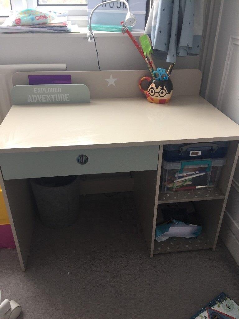 kids adventure desk, 2 shelf and drawer storage
