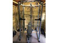 BodyMax CF475 power rack+ Power block weight bench