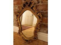 Vintage gold painted mirror
