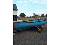 12ft fishing boat with trailer,oars..No engine