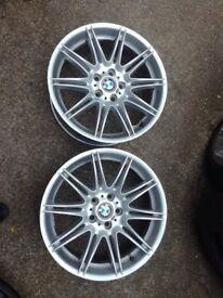 2x Genuine BMW 3-series MV4 19 Inch Alloy Wheels E93 E92 8x19 Front 8037141