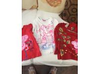 Age 3-4 years peppa pig top bundle