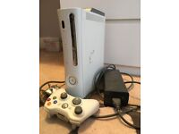 Xbox 360 with 2 x controllers and 12 x games