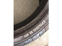 2 Continental Contact Tyres 175/55/R15