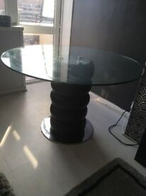 Glass Dining table without chairs