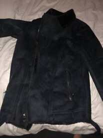 Men's small Sherpa style coat