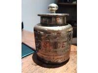 VINTAGE INDIAN BRASS SPICE POT WITH LID