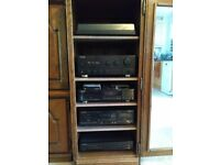 Pioneer music system & pair of Wharfedale speakers 1988/1989