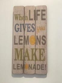 Quote wooden picture