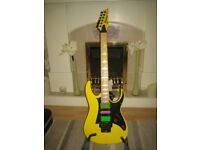 Ibanez RG350M (RG350 Impersonating a Steve Vai Jem 777) Electric Guitar Maple Neck (Optional Case)