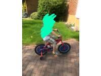 Spiderman bike with matching helmet