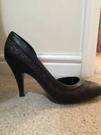 Black glitter shoes new look size 4