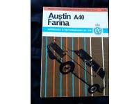 Austin A 40 Farina Owners Work shop Manual