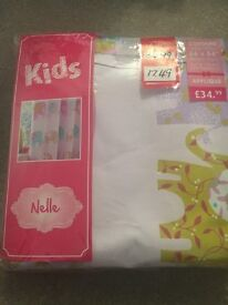 Children's curtains for sale. £10. Unused in original packaging from Dunelm. Elephant motif.
