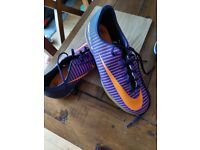 Nike Mercurial X sixe 4.5 orange and purple