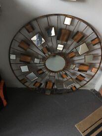 Wall mirrow metal/glass
