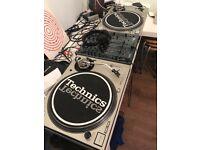 2 x Technics SL-1200mk5 Turntables