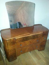 Vinatge walnut dressing table
