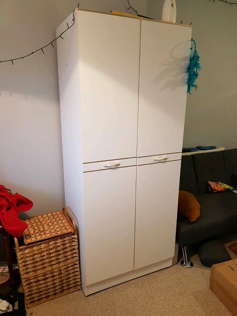 wardrobe with top storage set .Collection only