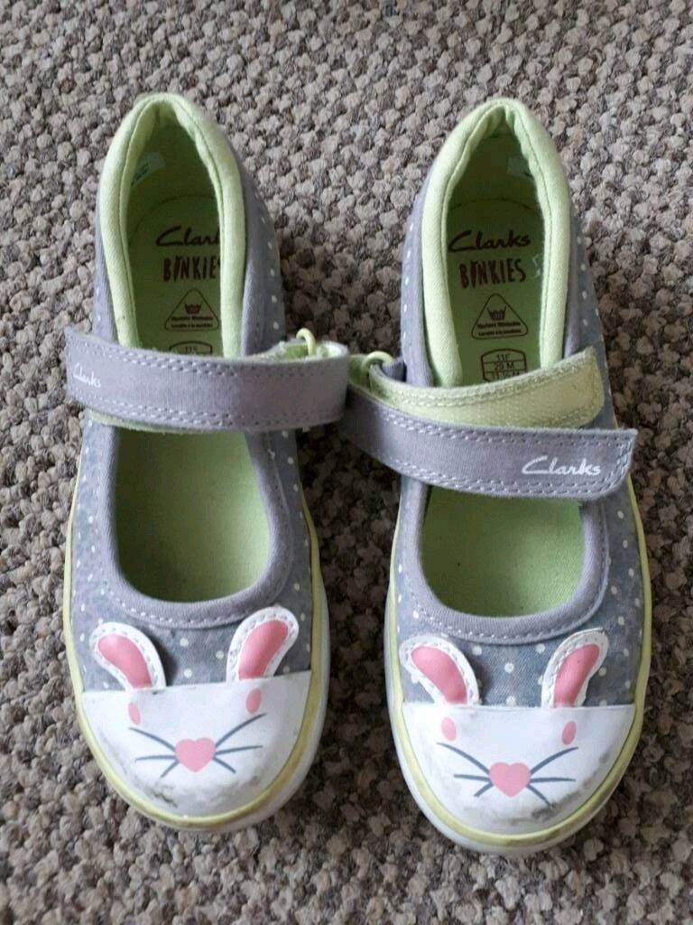 378bb003d2832 Clarks Gracie Tale Girls Shoes UK 11 EUR 29 Summer Bunny   in ...