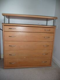 CHEST OF DRAWS WITH TELEVISION STAND