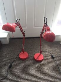 2 x Red Light Lamps