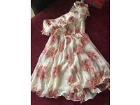 One shoulder flower dress for sale
