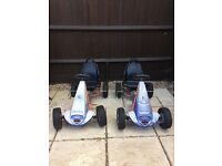 2 kettles go karts used but drives perfectly still but sun faded but bargain for summer