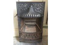 Original decorative vintage fireplace