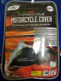 Motorcycle cover and WD40 chain lube/cleaner/wax - NEVER USED