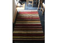 100% Wool Rug - Stripe Design