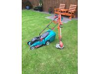 Bosch electric mower and Flymo streamer