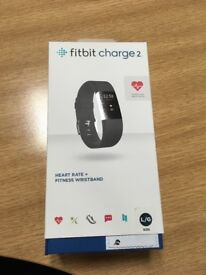 Fitbit Charge 2 - black, large (brand new in box)