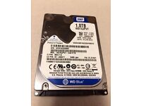 """HDD 2.5"""" Western Digital Scorpio Blue 1TB (WD10JPVT) Faulty for parts or repair"""