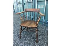 Armchair solid beech wood smokers bow farmhouse stule