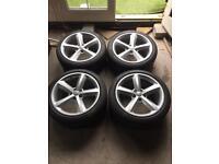 "Audi / VW Genuine 18"" S-Line alloys ( Very Good Tyres )"