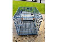 Dog cage blue 2ft by 1.5ft